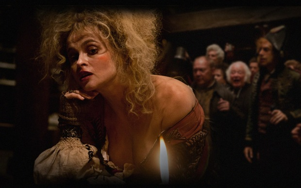 Helena Bonham Carter as the outrageous Madame Thénardier