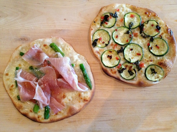 Prosciutto & Asparagus and Zuccini, Chilli and Mint