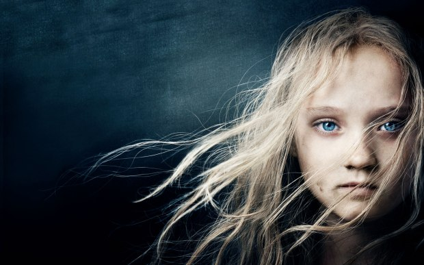 The poster image - Isabelle Allen as the young Cosette