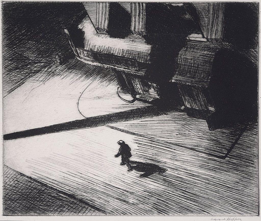 Night Shadows, 1921 (etching, © Philadelphia Museum of Art)