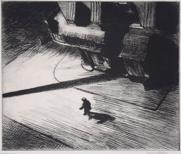 Night Shadows, 1921 (etching, © Philadelphia Museum of Art)