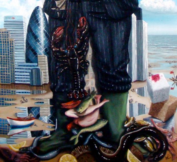 Nicholas in the Renaissance (detail) (2008 © Nicholas de Lacy-Brown, oil on canvas)