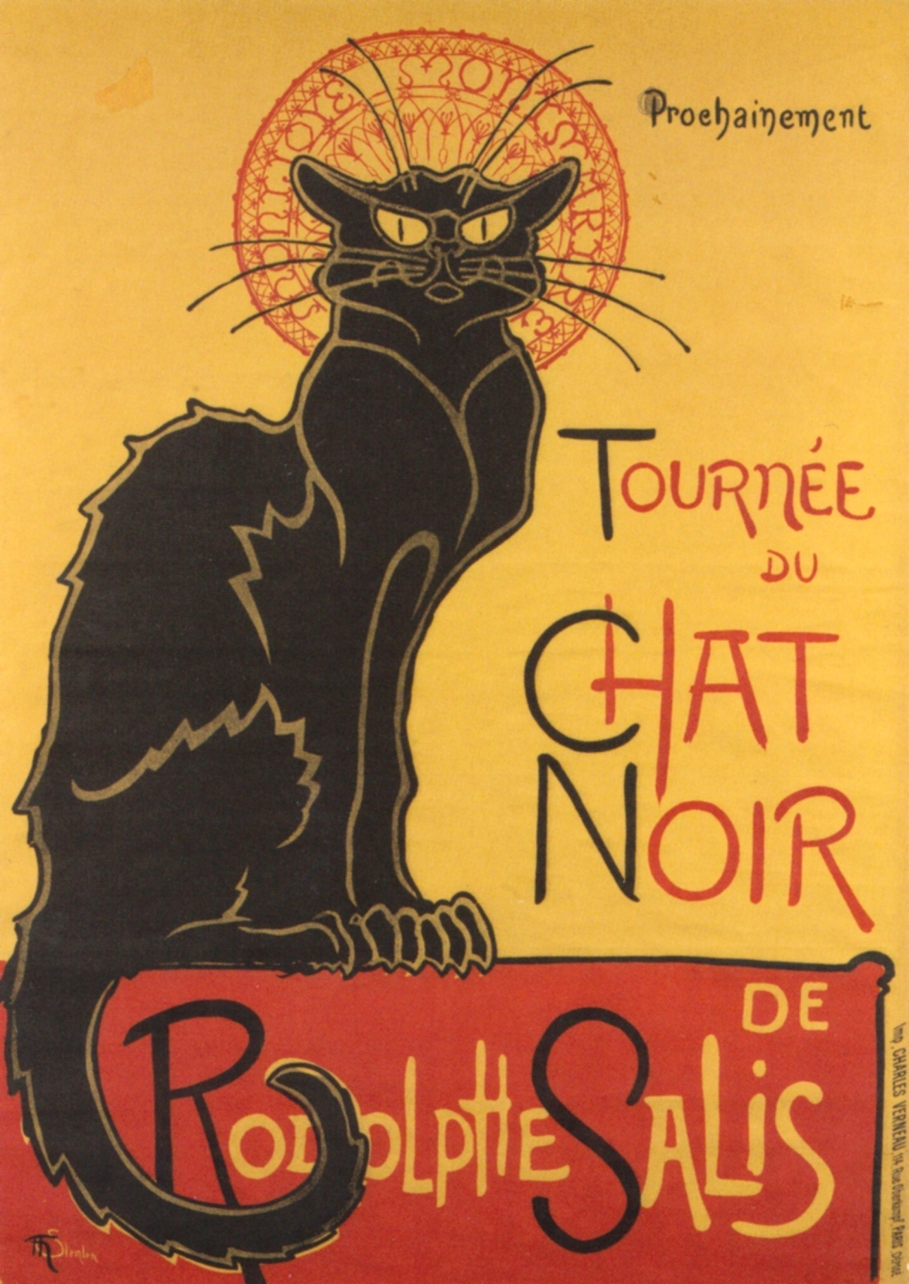 Steinlein, poster for Le Chat Noir