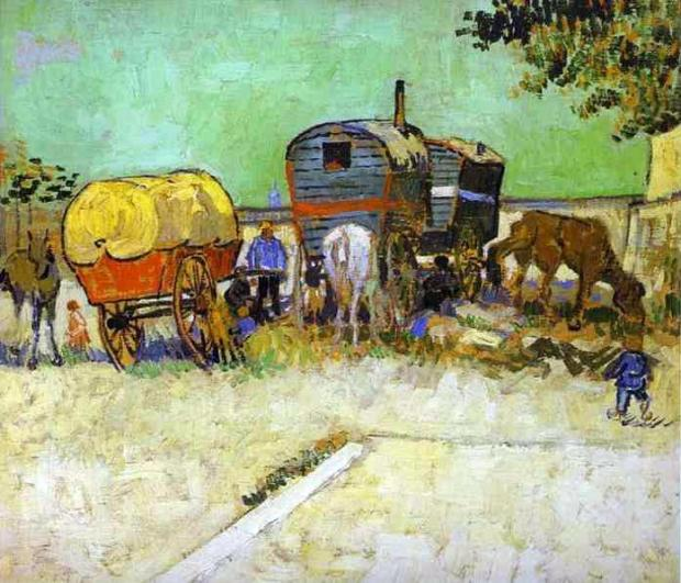 Van Gogh, Gypsy Camp near Arles