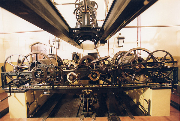 The machinery of the clock (Parliamentary copyright images are reproduced with the permission of Parliament)