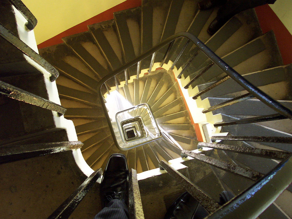 Stairs looking down (not good for those with vertigo) (Parliamentary copyright images are reproduced with the permission of Parliament)