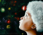 Alexander, enchanted by Christmas (2010 © Nicholas de Lacy-Brown)