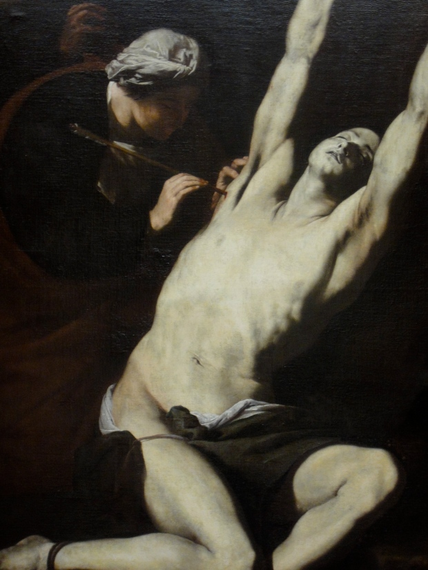 St Sebastian tended by St Irene, by Jose de Ribera (1591-1652)