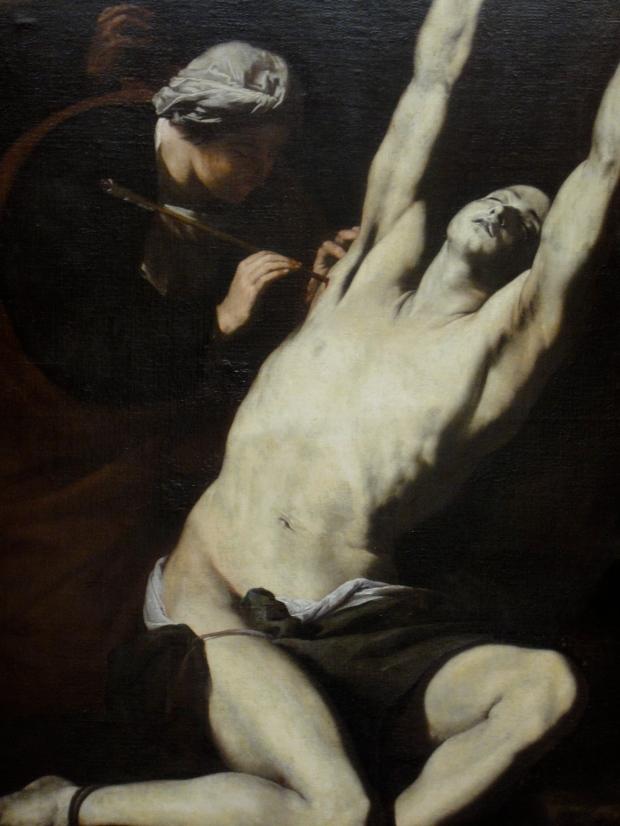 St Sebastian tended by St Irene, by Jose de Ribera (1591-1652)