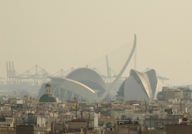 The City of Arts and Sciences in the distance