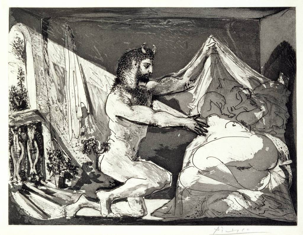 Faun Revealing a Sleeping Woman (Jupiter and Antiope, after Rembrandt) 1936