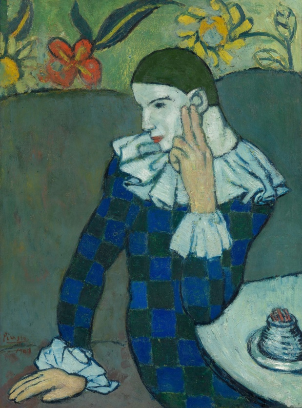 Seated Harlequin (1901)