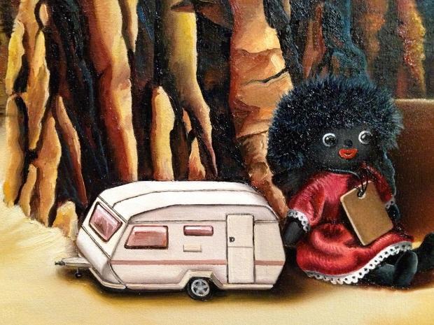 The caravan, painted.