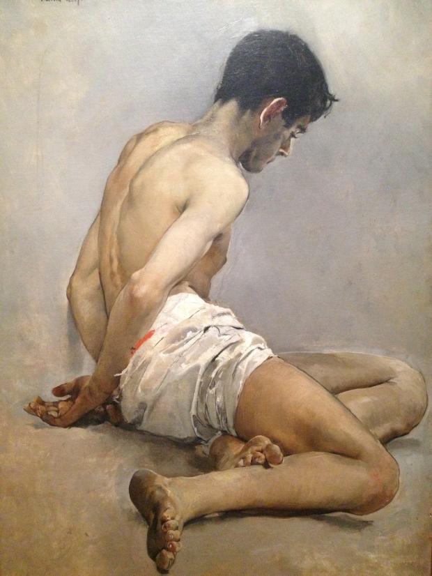 Joaquin Sorolla, Academic Study from Life (Man) (1887)
