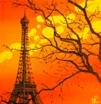 Orange Eiffel (2010 © Nicholas de Lacy-Brown)