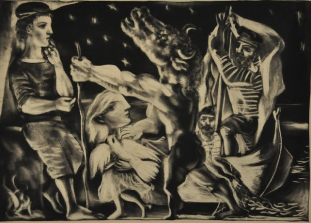 Blind Minotaur Led by a Girl through the Night (1934 Printed in 1939)