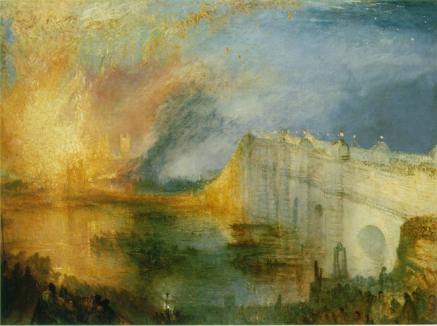 J M W Turner, The Burning of the Houses of Lords and Commons, 16th October, 1834 (1834-5)