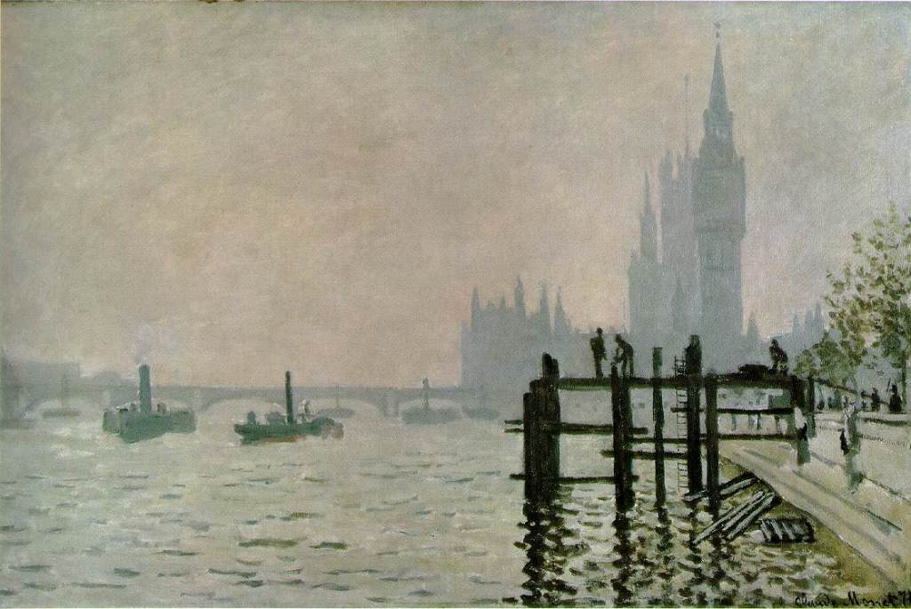Claude Monet, The Thames at Westminster (1871)