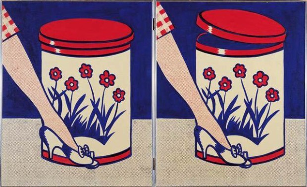 Inspired by adverts - Step-on can with leg (1961)