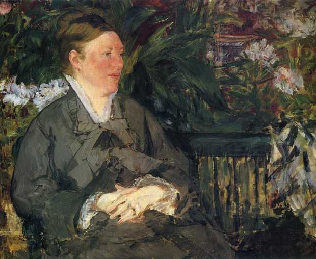Madame Manet in the Conservatory (1879)