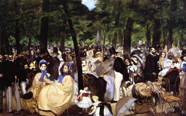Music in the Tuleries Gardens (1862)