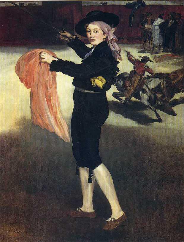 Victorine Meurent in the costume of an Espada (1862)