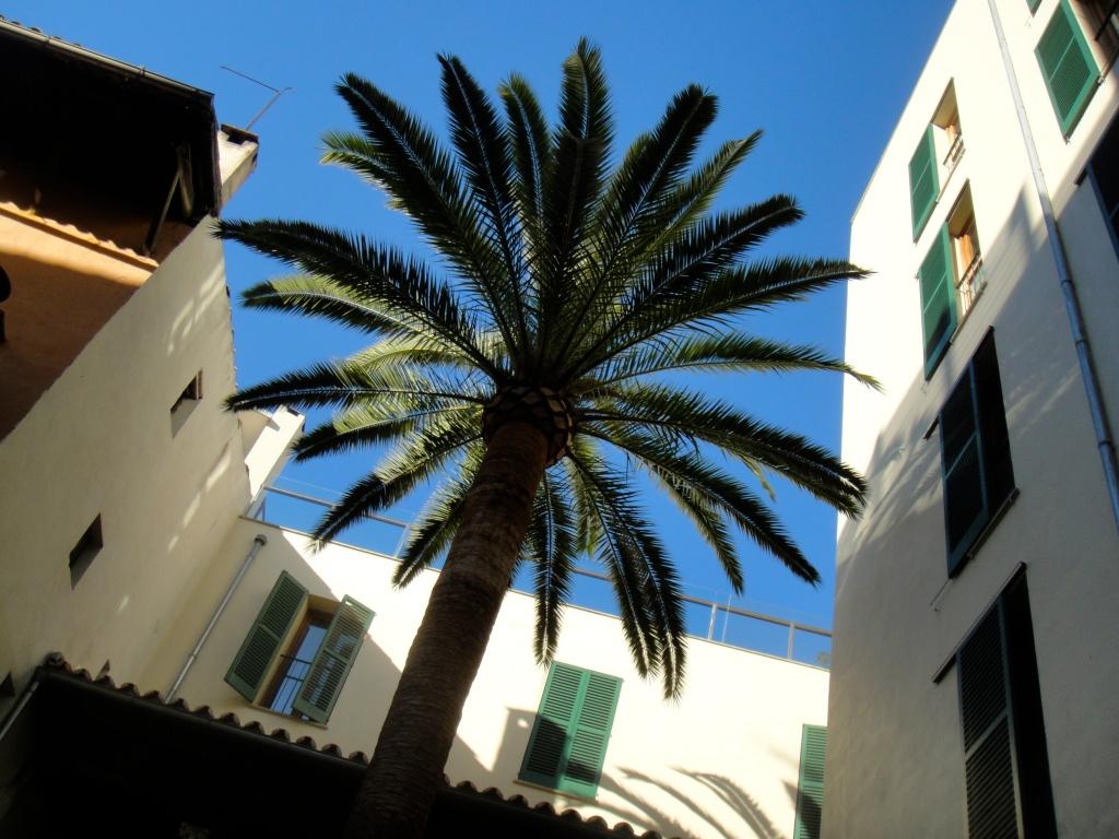 The hotel's inner courtyard