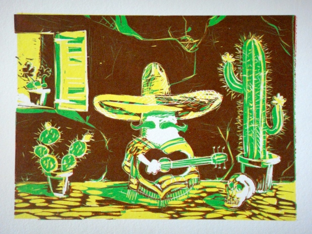 Mexican Norm (linocut print)