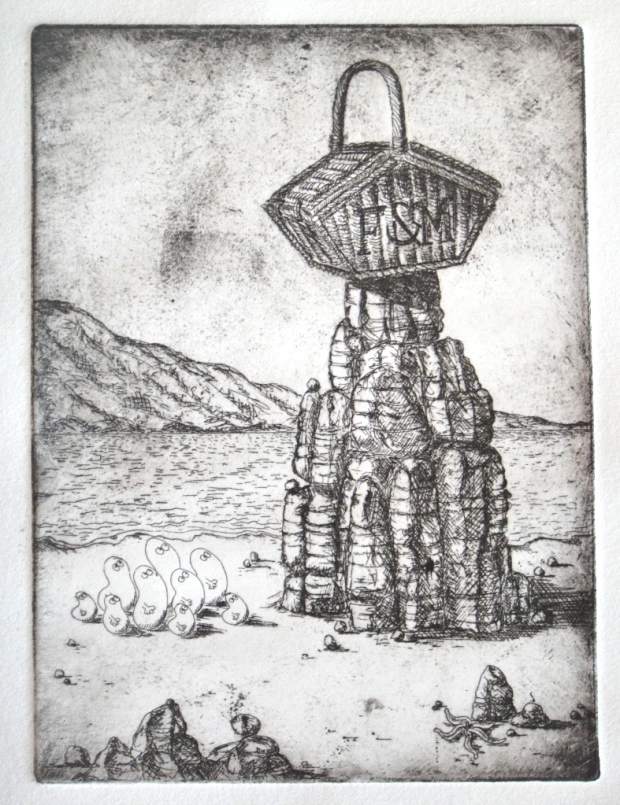 My second etching pre-aquatint stage (© Nicholas de Lacy-Brown)