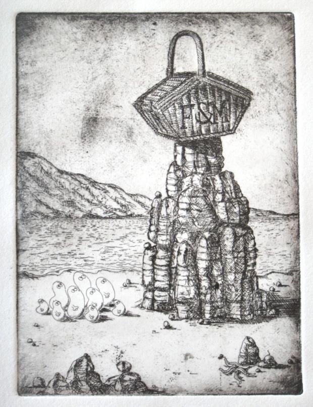 My second etching pre-aquatint stage (© Nicholas de Lacy-Brown)