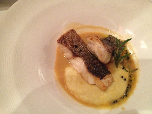 Sea Bream in a lobster sauce