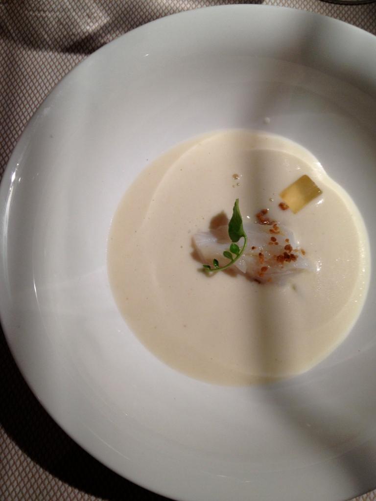 Celery soup amuse bouche