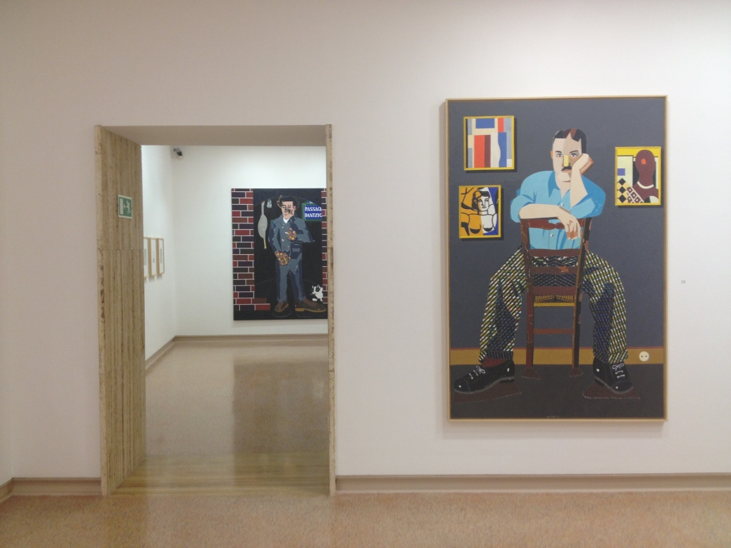 Eduardo Arroyo's portrait of Leger (in the foreground)
