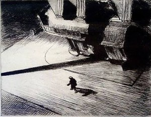 Another favourite etching - Edward Hopper, Night Shadows (1921)