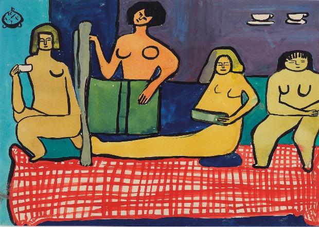 Les Peintes Celebres (1948-9) © Saloua Raouda Choucair Foundation