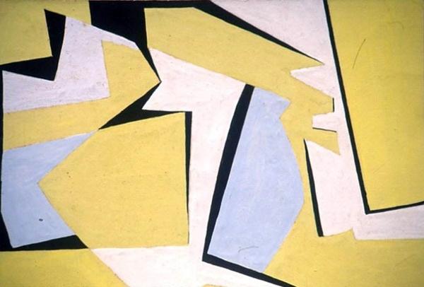 Rhythmical Composition in Yellow (1952-5) © Saloua Raouda Choucair Foundation