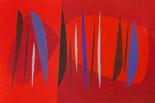 Composition with Arcs (1962-5) © Saloua Raouda Choucair Foundation