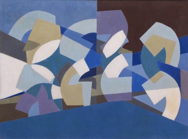 Composition in Blue Module (1947-51) © Saloua Raouda Choucair Foundation