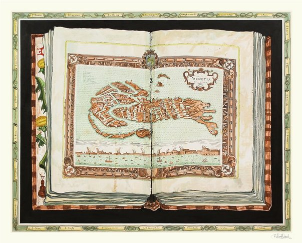 Adam Dant, The Mouth of Italy (Venice) hangs at this year's show © Adam Dant