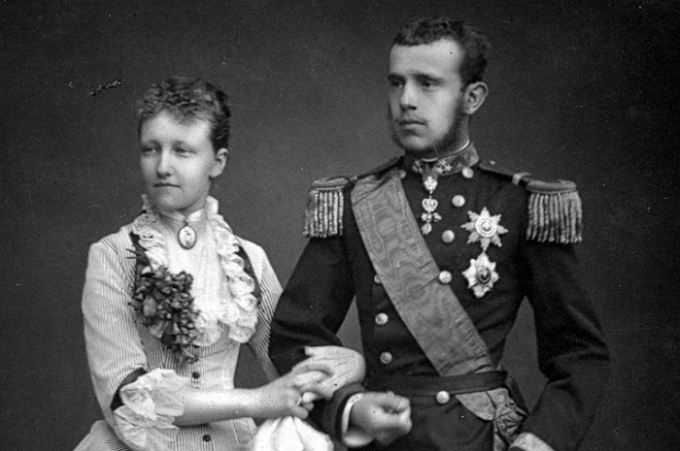 The real Crown Prince with his Belgian wife, Princess Stephanie