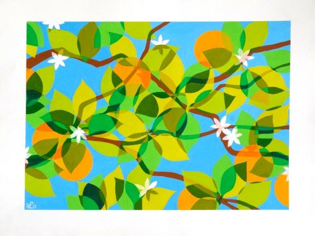 Composition No. 2 (Los Naranjos) © Nicholas de Lacy-Brown, gauche on paper