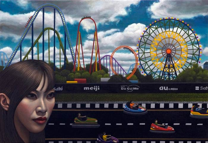 Amusement Park (oil on canvas © Carl Randall. Reproduced with the kind permission of Carl Randall/ www.carlrandall.com)