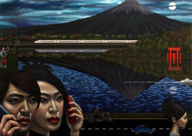 Hakone (oil on canvas © Carl Randall. Reproduced with the kind permission of Carl Randall/ www.carlrandall.com)
