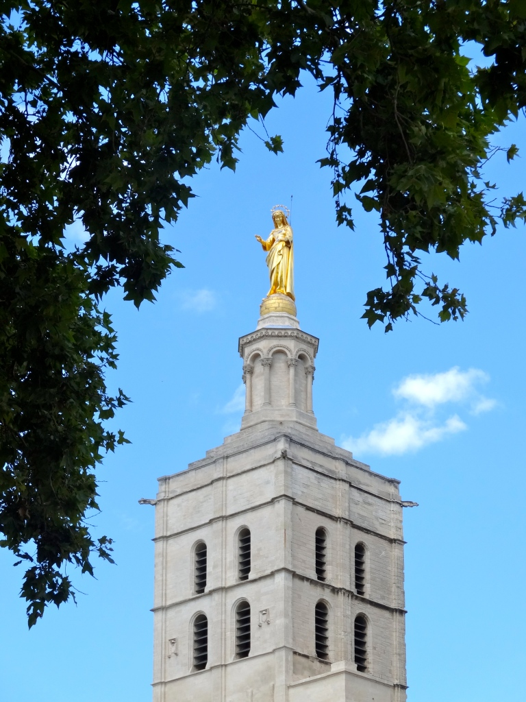 Mary atop Avignon's Cathedral