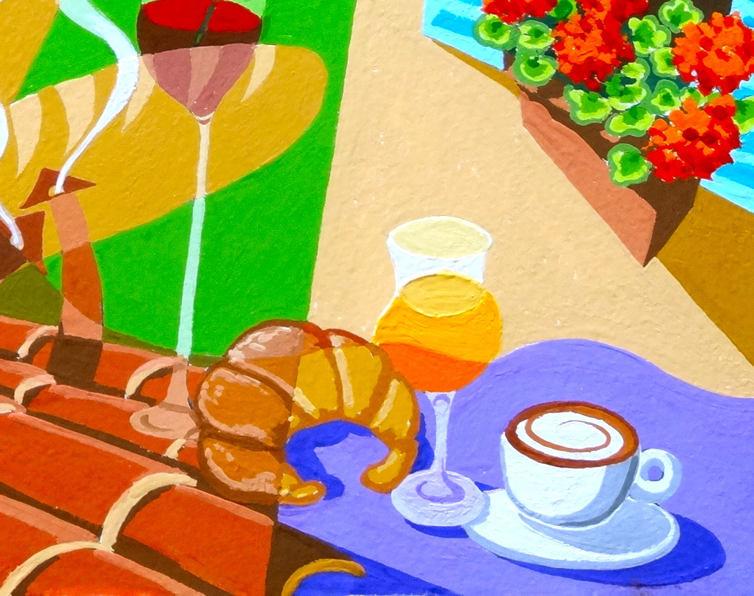 Provence odyssey my journey in paintings from avignon to arles avec le petit dejeuner the - Le petit jardin ime avignon paris ...
