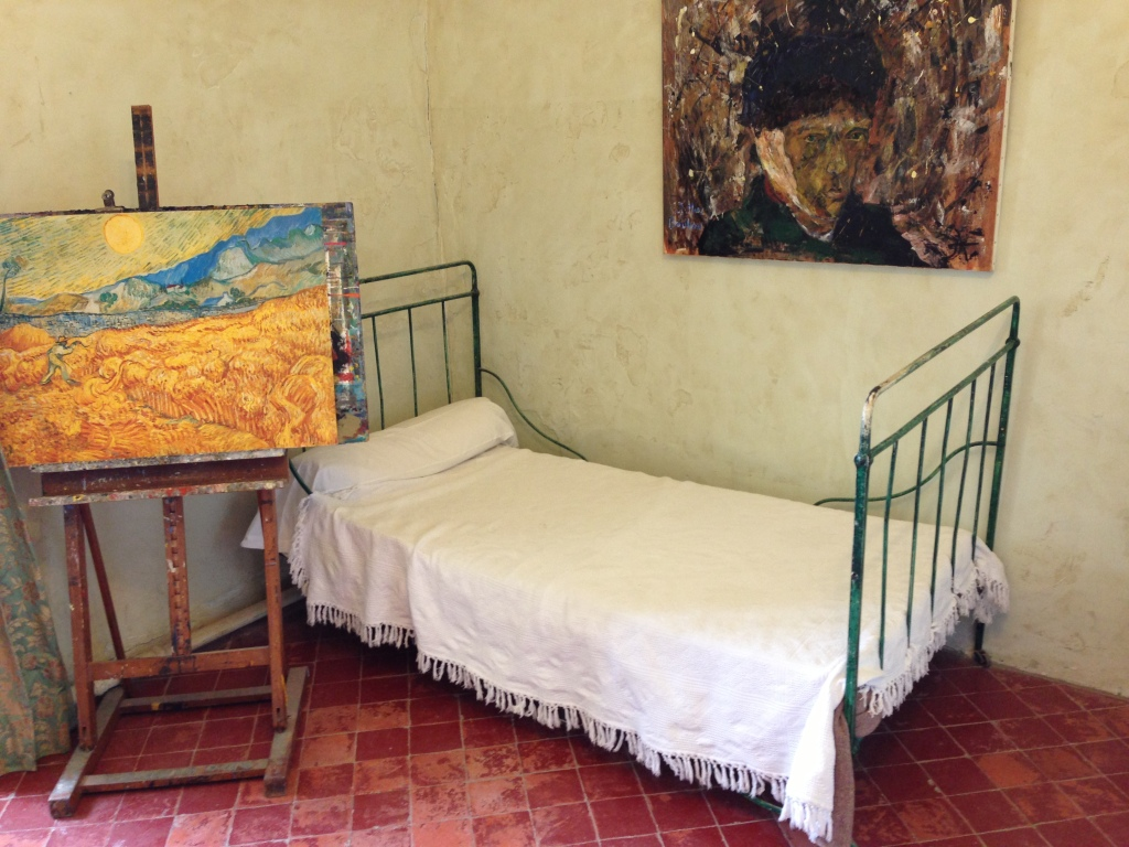 Van Gogh's hospital bed and easel