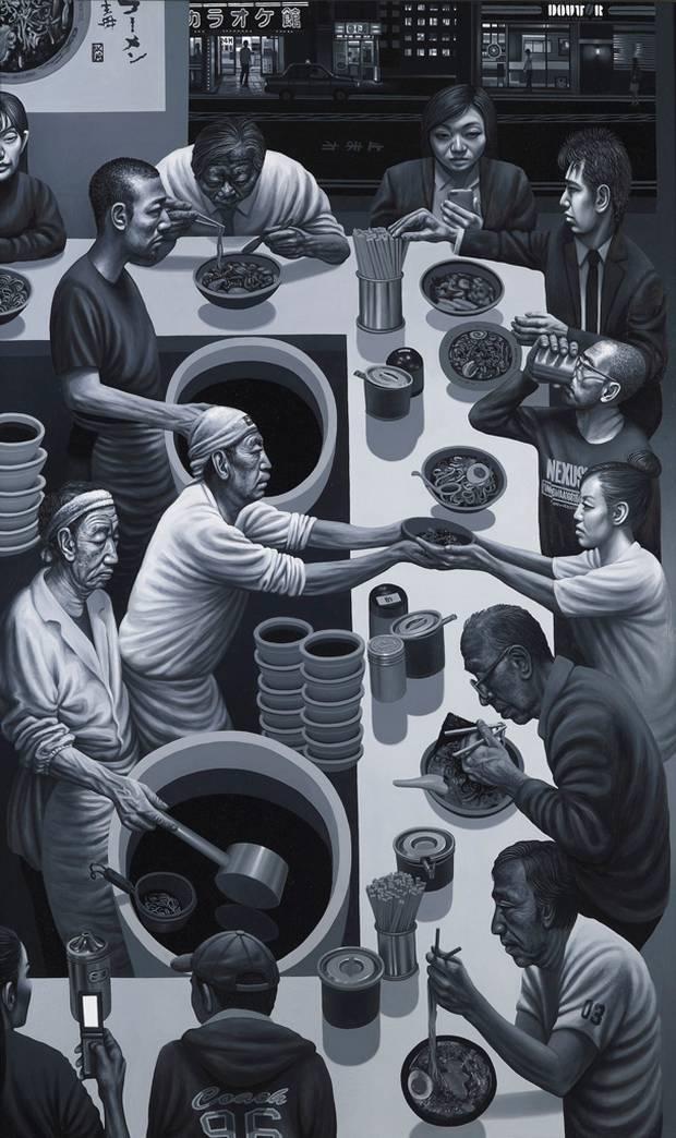Mr Kitazawa's Noodle Bar (oil on canvas © Carl Randall)
