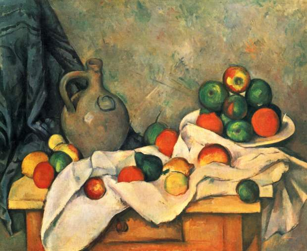 Still Life, draper, pitcher and fruit bowl (1893-4)