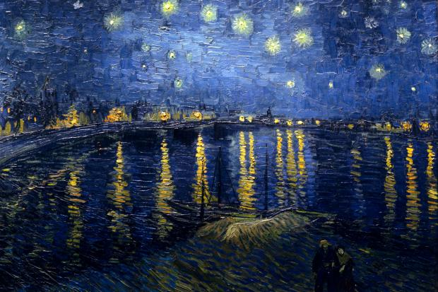 Starry Night over the Rhone (1888)