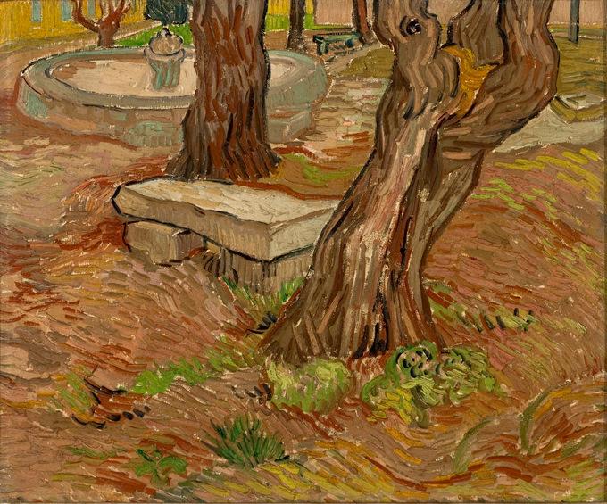 Stone Bench in the garden of Saint Paul